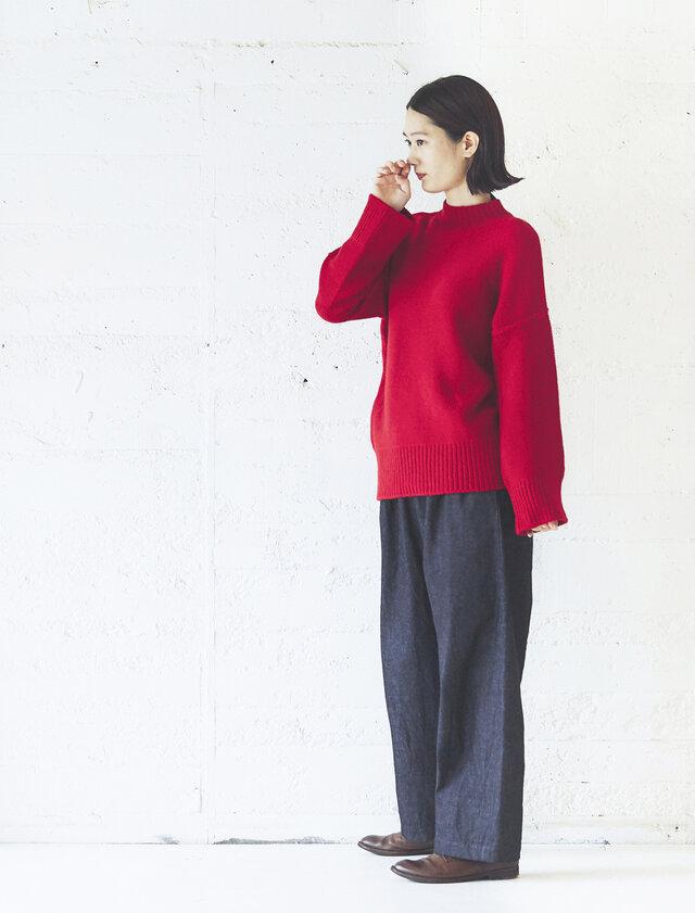 model:168cm color:レッド