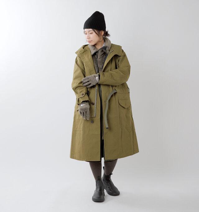 model hikari:165cm / 48kg color : weimaraner brown / size : XS