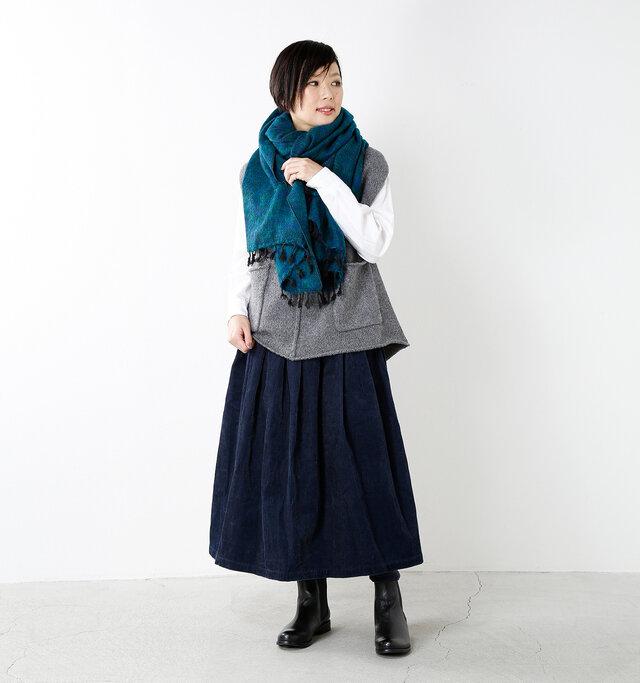 model mayu:158cm / 48kg color : green×blue / size : one