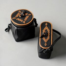 Yammart|カウレザーポットモチーフキューブ型ミニバッグ pot-cube-m