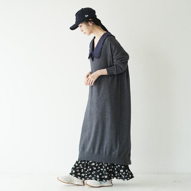 モデル:166cm / 47kg color : white×blue / size : 23.5cm