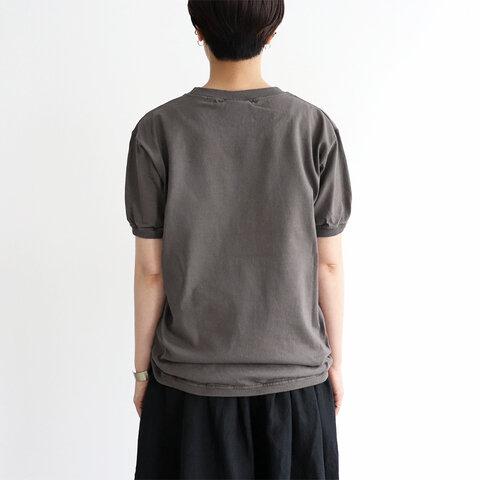 Goodwear リブ付き半袖Tee - ロゴプリント