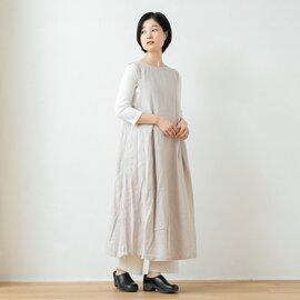 TUTIE.|リネンへリンボン起毛タックジャンパースカート