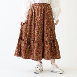 ATELIER EQUAL|コットン小花柄プリント起毛ギャザースカート