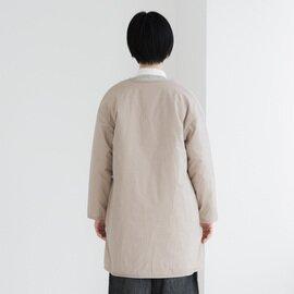 TUTIE. 高密度タイプライター中綿ライトコート