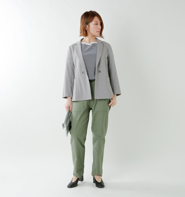 model mei:165cm / 50kg color : light gray / size : F