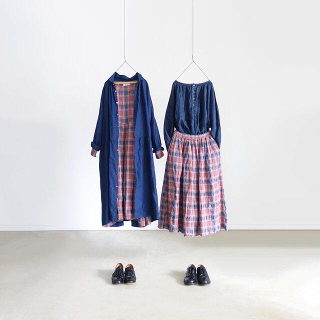 (左)ワンピース(右)スカート /Pink
