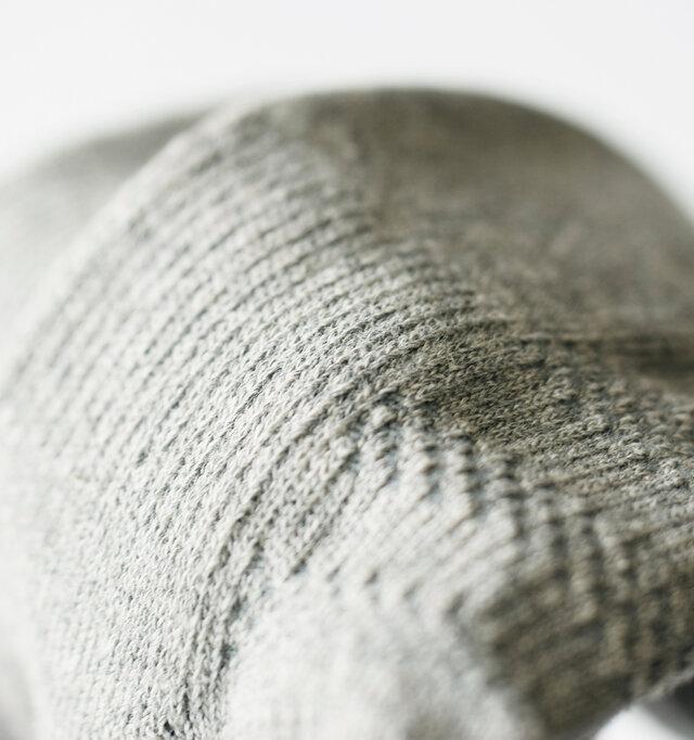 きゅっと目が詰まりやや肉厚に編み立てられています。しっかりとしたストレッチでフィット感抜群!