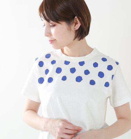 to touch|コットンドットTシャツ to18c-14-rf