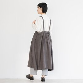 TUTIE. リネンウールへリンボンタックジャンパースカート