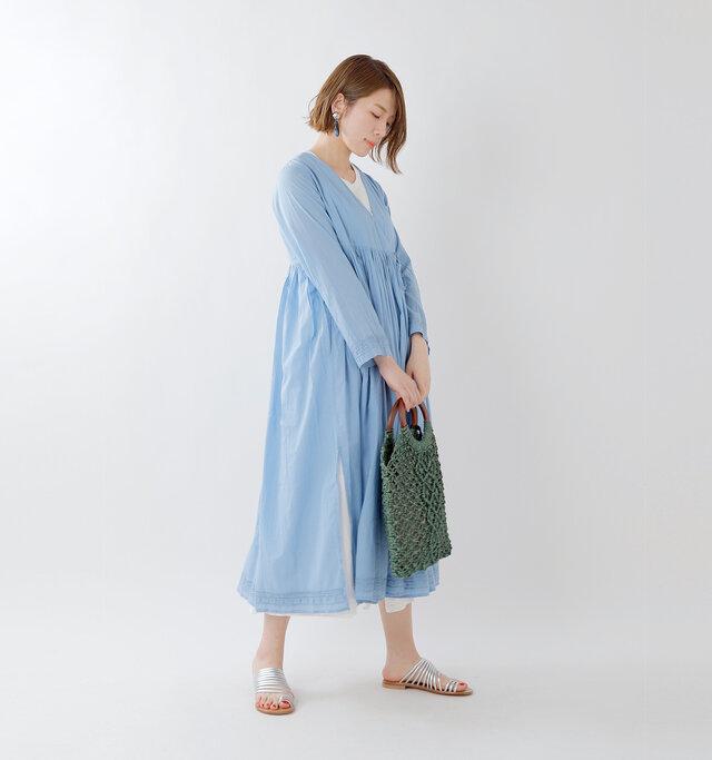 model mei:165cm / 50kg color : light blue / size : F