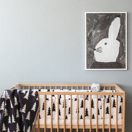 Fine Little Day|ポスター RABBIT WITH SMALL HAT 50×70cm