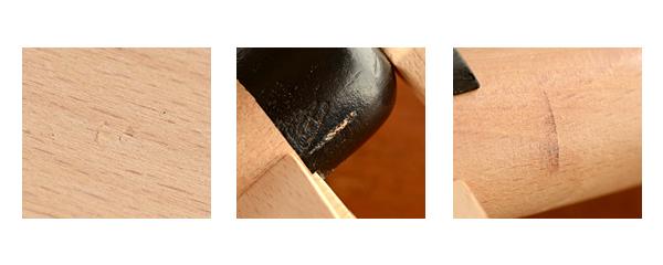 表面の凹み ペイントロス 色擦れ