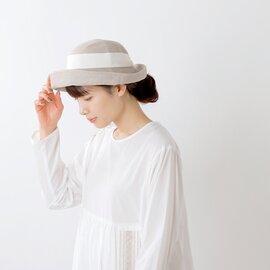 """mature ha. ヘンプリネン ローワイドブレードハット""""hemp linen braid hat low wide"""" mas21-65-yh"""
