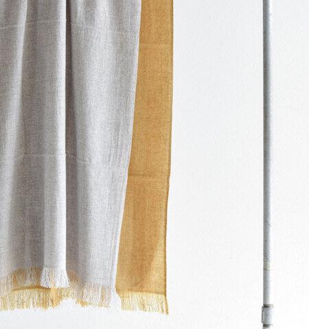 "Baje Craft|カシミヤウール綾織ストール""ECHORS Twill cashmere"" baj-f058-mm"
