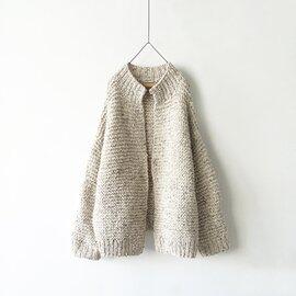 ichi Antiquités Snow nep Knit Cardigan