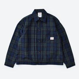 DANTON|ナイロンタフタチェックシャツジャケット jd-8947npl-mk