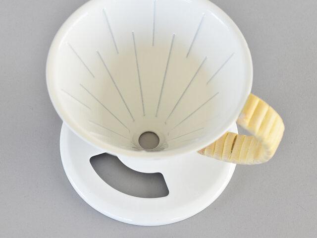 マグカップなどに直接セットし、どれくらい注がれたか見えるように窓が付いているのがポイントです。