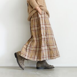 ichi Antiquités|Linen Tartan Shirt Skirt