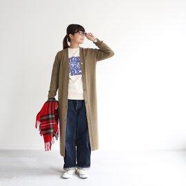 BATONER|エイジングウール・マキシ丈カーディガン