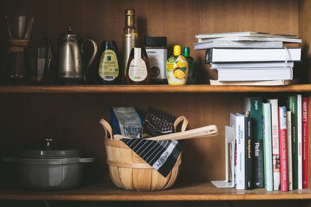 キッチンのバスケットとしても◎野菜をストックしたり、お菓子を入れたり。何を入れて使おうか考えるのもまた楽しいですね♪