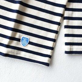 ORCIVAL|コットンロードオーバーサイズマリンバスク シャツ bee emblem ソリッド 無地 ボーダー カットソー 長袖 ボートネック トップス B211 オーシバル/オーチバル