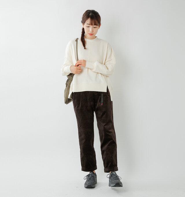 model mizuki:168cm / 50kg  color : dark brown / size : M