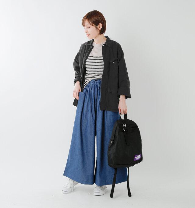 model yama:167cm / 49kg color : black / size : S