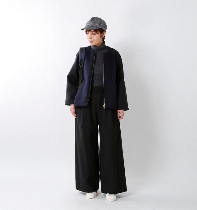 model yama:167cm / 49kg color : black / size : 2