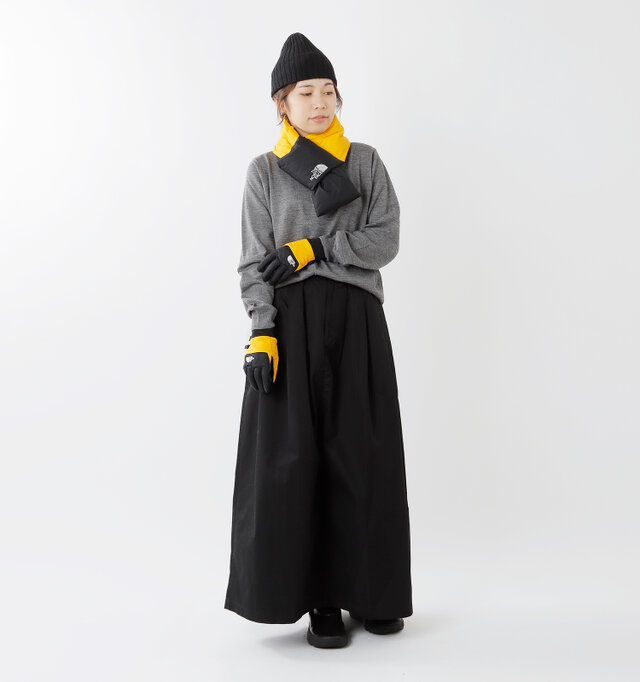model hikari:165cm / 48kg color : TNF yellow / size : XS