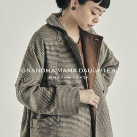 GRANDMA MAMA DAUGHTER|チェックラウンドカラーワイドコート