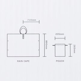 "Danke|レインケープ""RAIN CAPE raincape-aa"