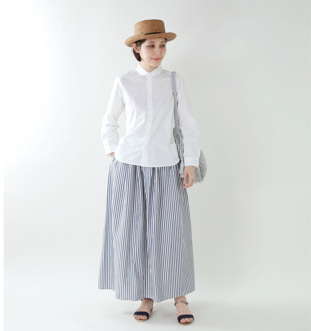 model yama:167cm / 49kg color : white / size : 2