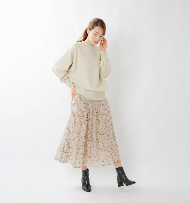 model mizuki:168cm / 50kg  color : beige / size : 38