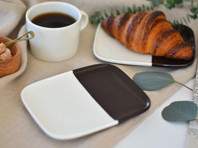 朝食のクロワッサンを乗せて…使う度に楽しい気分にさせてくれそうですね。