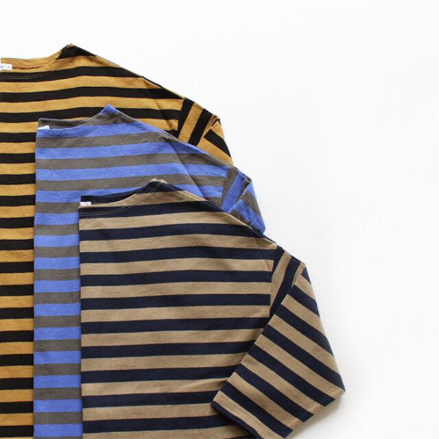 maillot(マイヨ)のドロップボーダーTeeに、新色が追加されました。 深みのある色合い同士の組み合わせで、もうすっかり秋を感じさせてくれます。