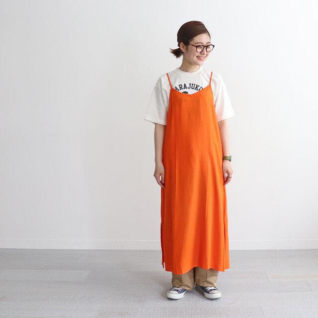 オレンジ 着用、モデル身長:158cm