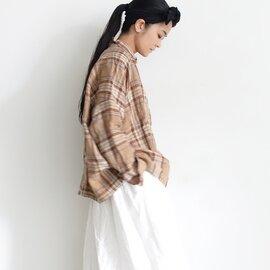 ichi Antiquités|Linen Tartan Shirt