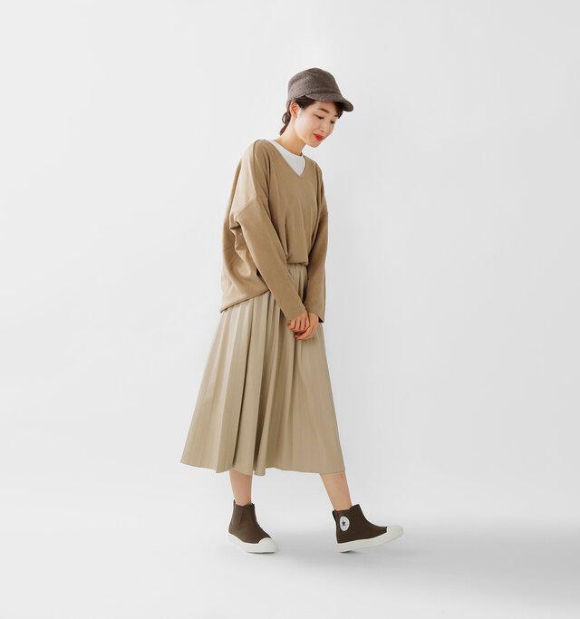 model mizuki:168cm / 50kg color : brown / size : 5(24.0cm)