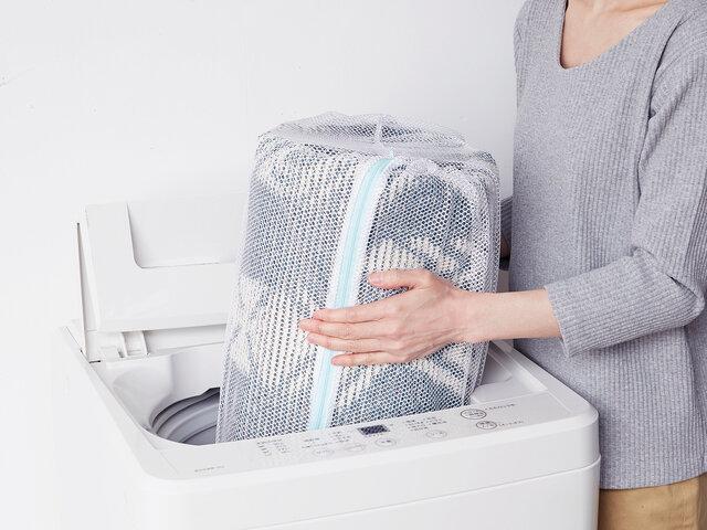 寝転んでくつろいで頂けるらぐだからこそ、いつも清潔に使いたい!だから、ご家庭の洗濯機で丸洗いができる仕様にしました。いつも成型津でお母さんも、ニッコリ。