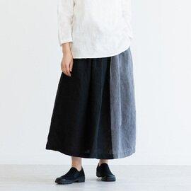 TUTIE.|リネンパネルバイカラータックギャザースカート