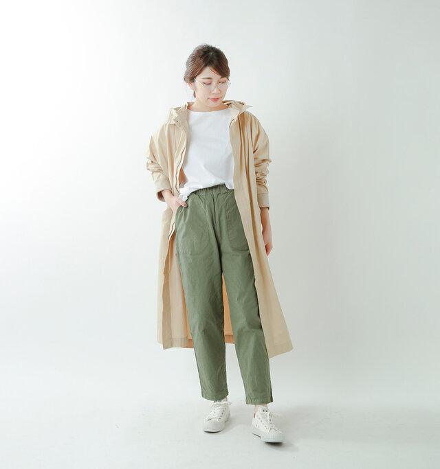 model hikari:165cm / 48kg  color : white / size : 1