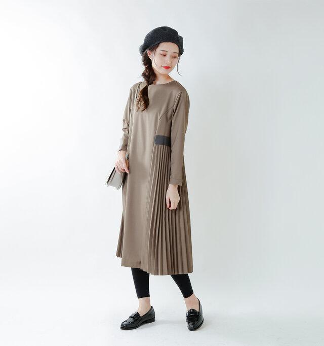 model kanae:167cm / 48kg color : grayge / size : S