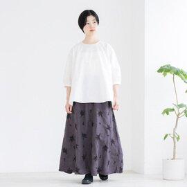 TUTIE. リネンスワッグ刺繍フレアースカート