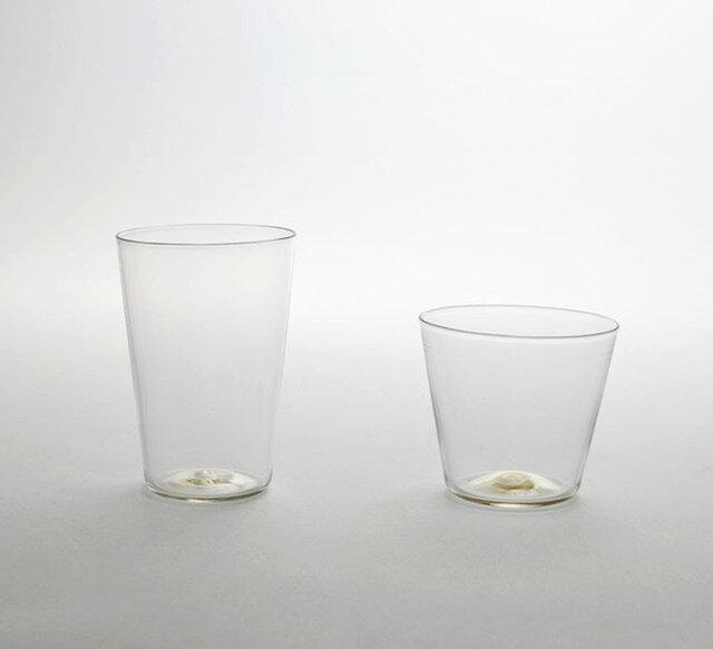 クリア カップ(左)ロンググラス(右)ショートグラス