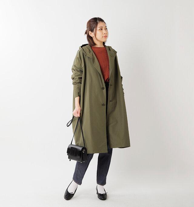 model hikari:165cm / 48kg color : olive / size : S