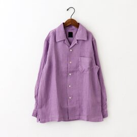 maillot|Linen Open Shirt リネンオープンシャツ MAS-19114