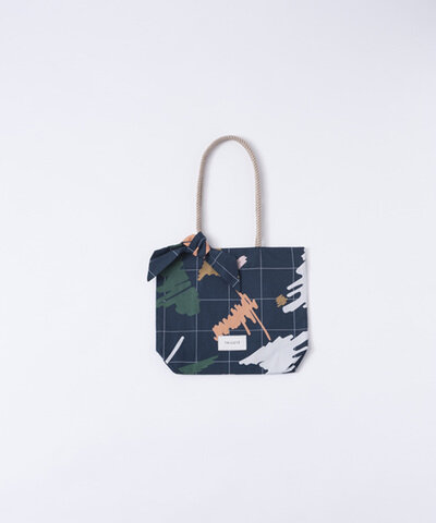 TRICOTE|COTTON CHECK PAINT MINI TOTE