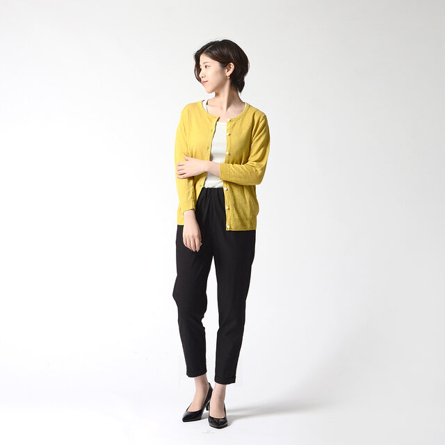 モデル:157cm / 47kg color : mustard / size : フリーサイズ