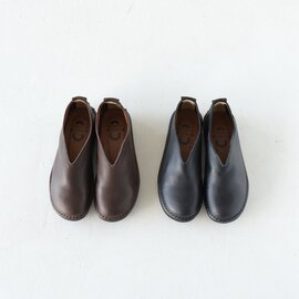 ramble dance|オイルシュリンクレザー Vカット フラット シューズ スリッポン 靴 352-01603 ランブルダンス